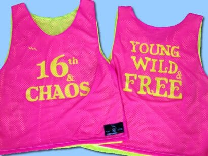 16th and chaos pinnies