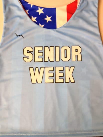 senior week pinnies