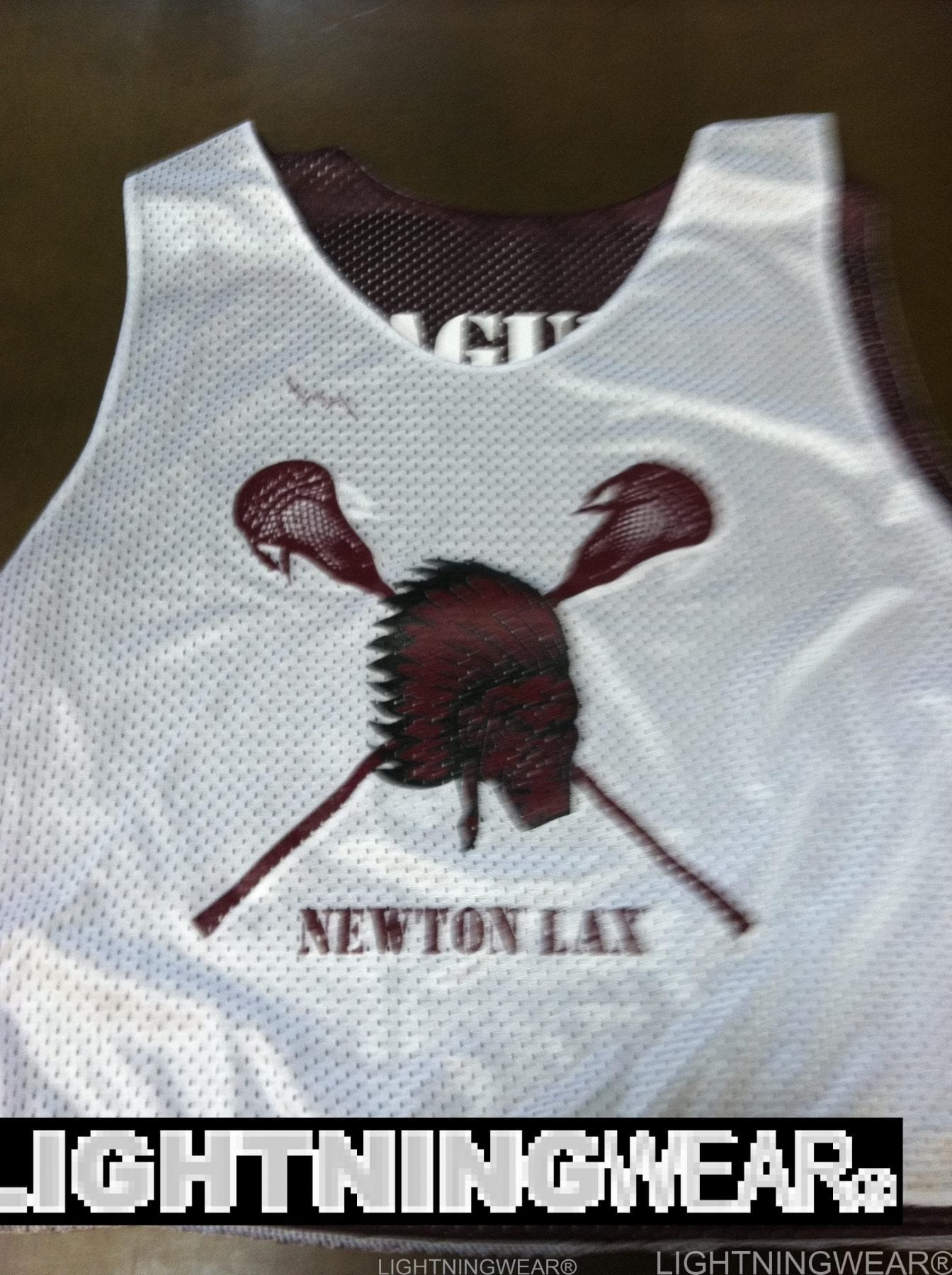 indian head lacrosse pinnies