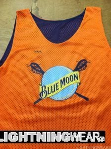blue moon lacrosse pinnies