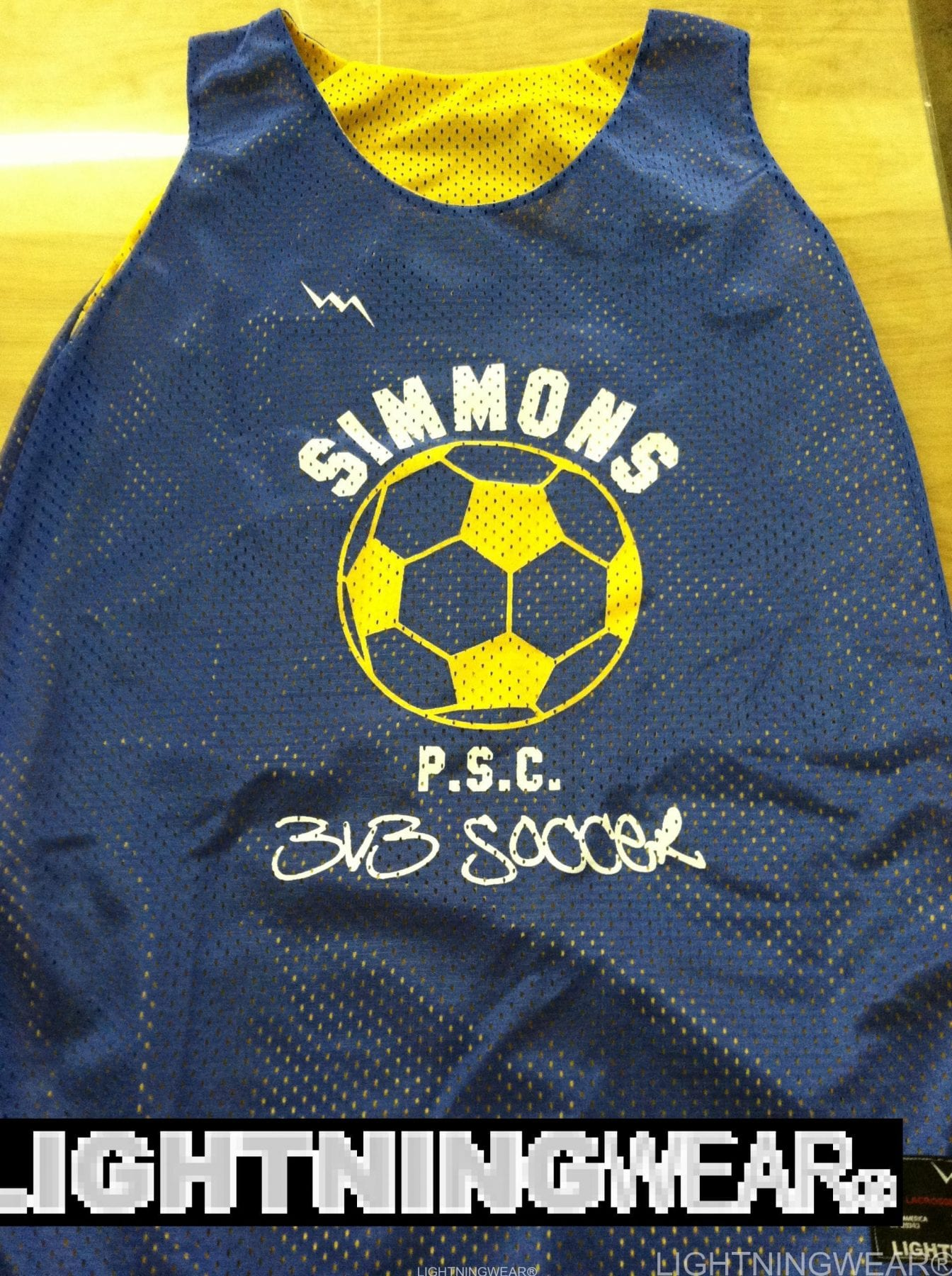 custom soccer pinnies