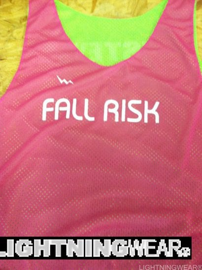 fall risk pinnies