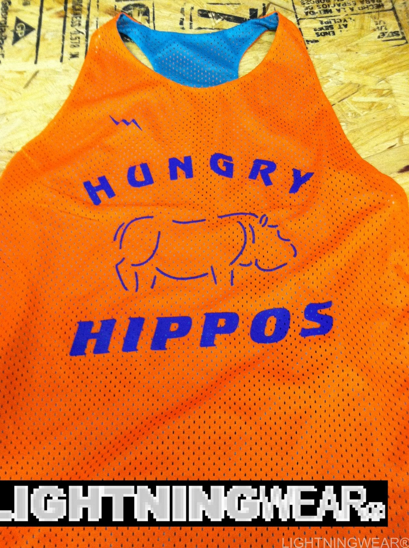 hungy hippos lacrosse pinnies