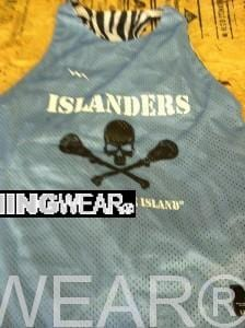islander lacrosse pinnies