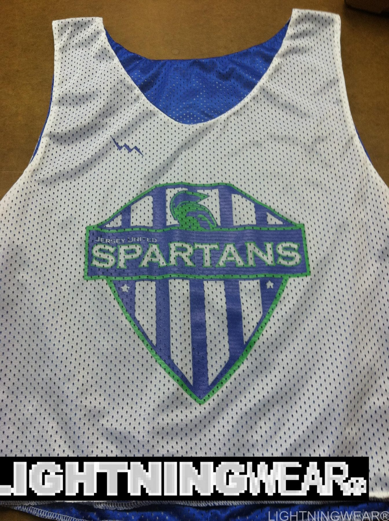 jersey united spartans soccer pinnies