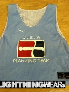 usa planking team pinnies