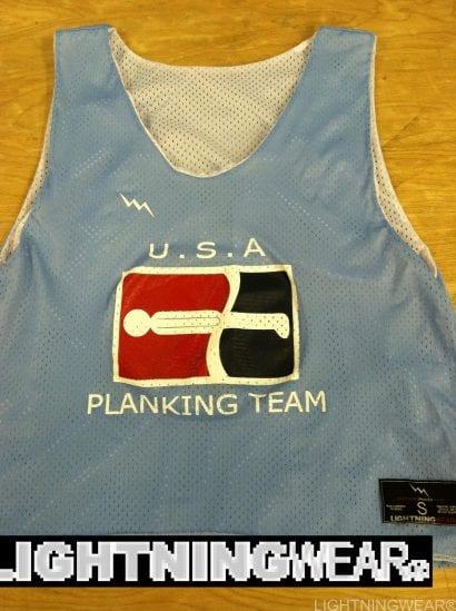 usa planking team pinnies
