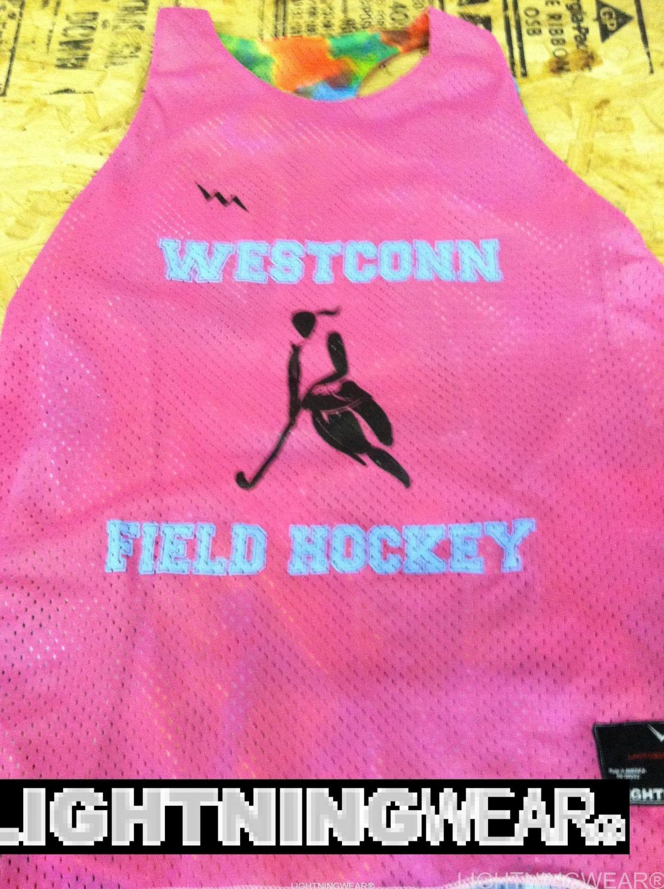 westconn field hockey pinnies racerback