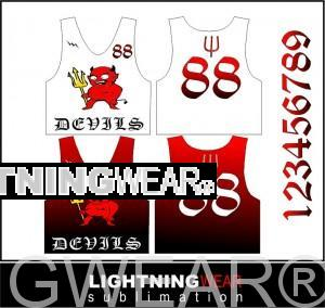 graphic sublimated pinnies