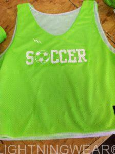 Neon Green Soccer Pinnies