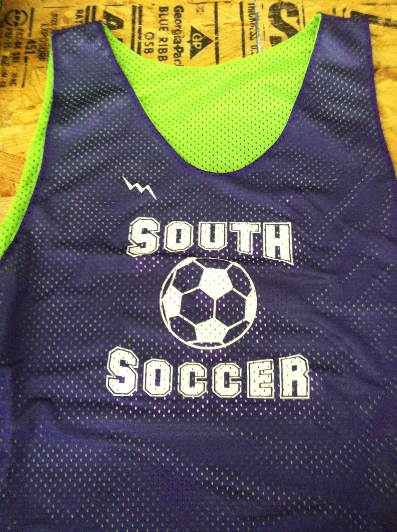 south soccer pinnies