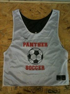 panther soccer pinnies