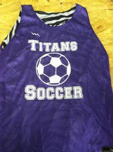 purple soccer pinnies