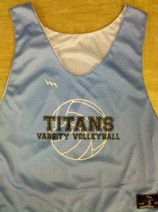 titans volleyball pinnies