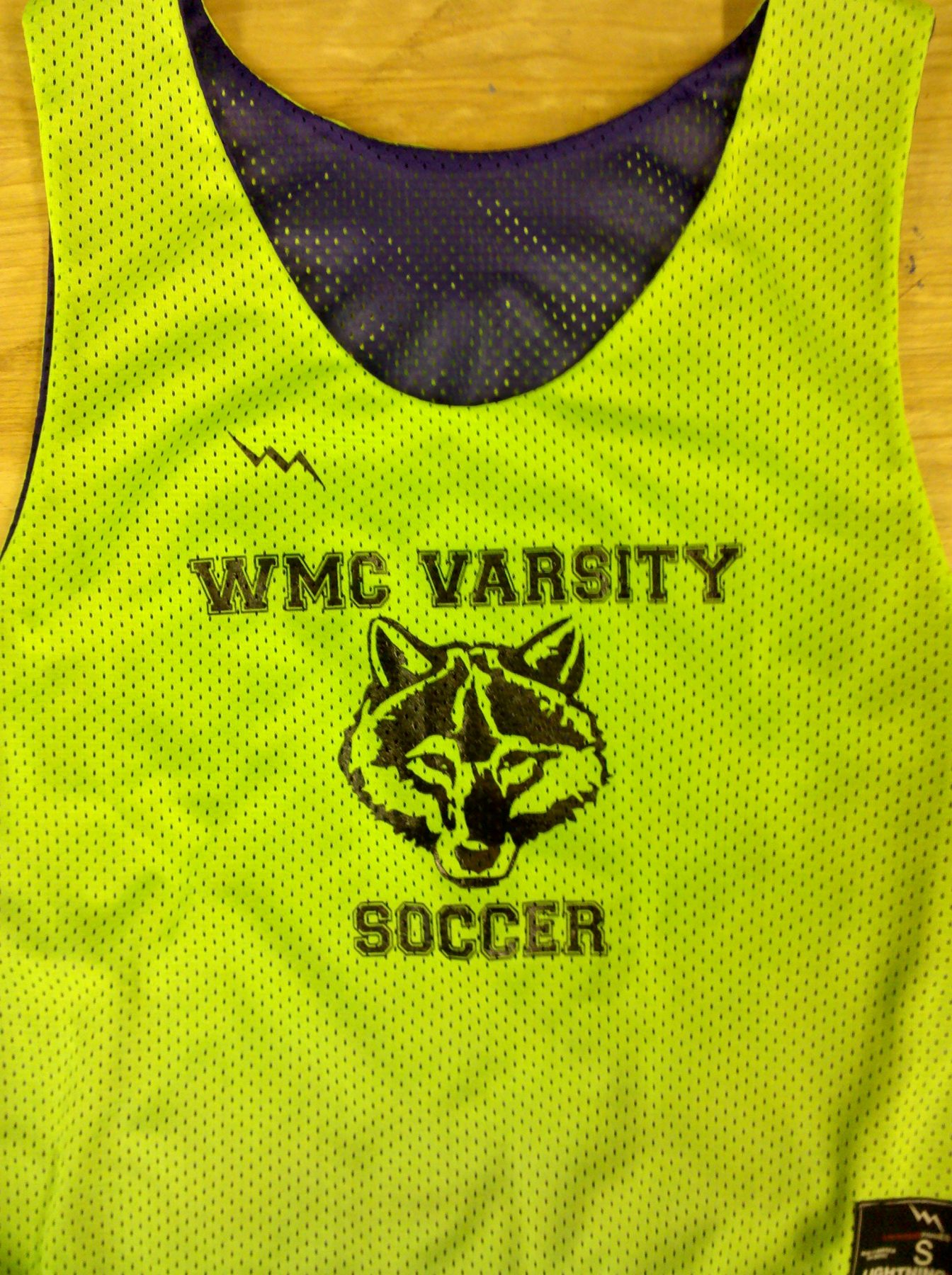 WMC Varsity Soccer Pinnies - Neon Green Pinnies