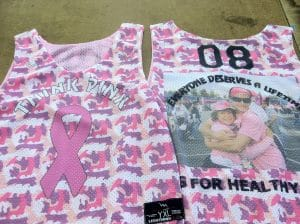 Race Cure Cancer Pinnies