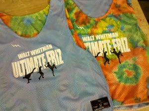 walt whitman Ultimate Frisbee pinnies
