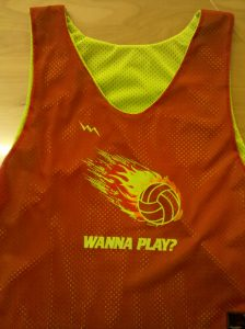 wanna play volleyball pinnies