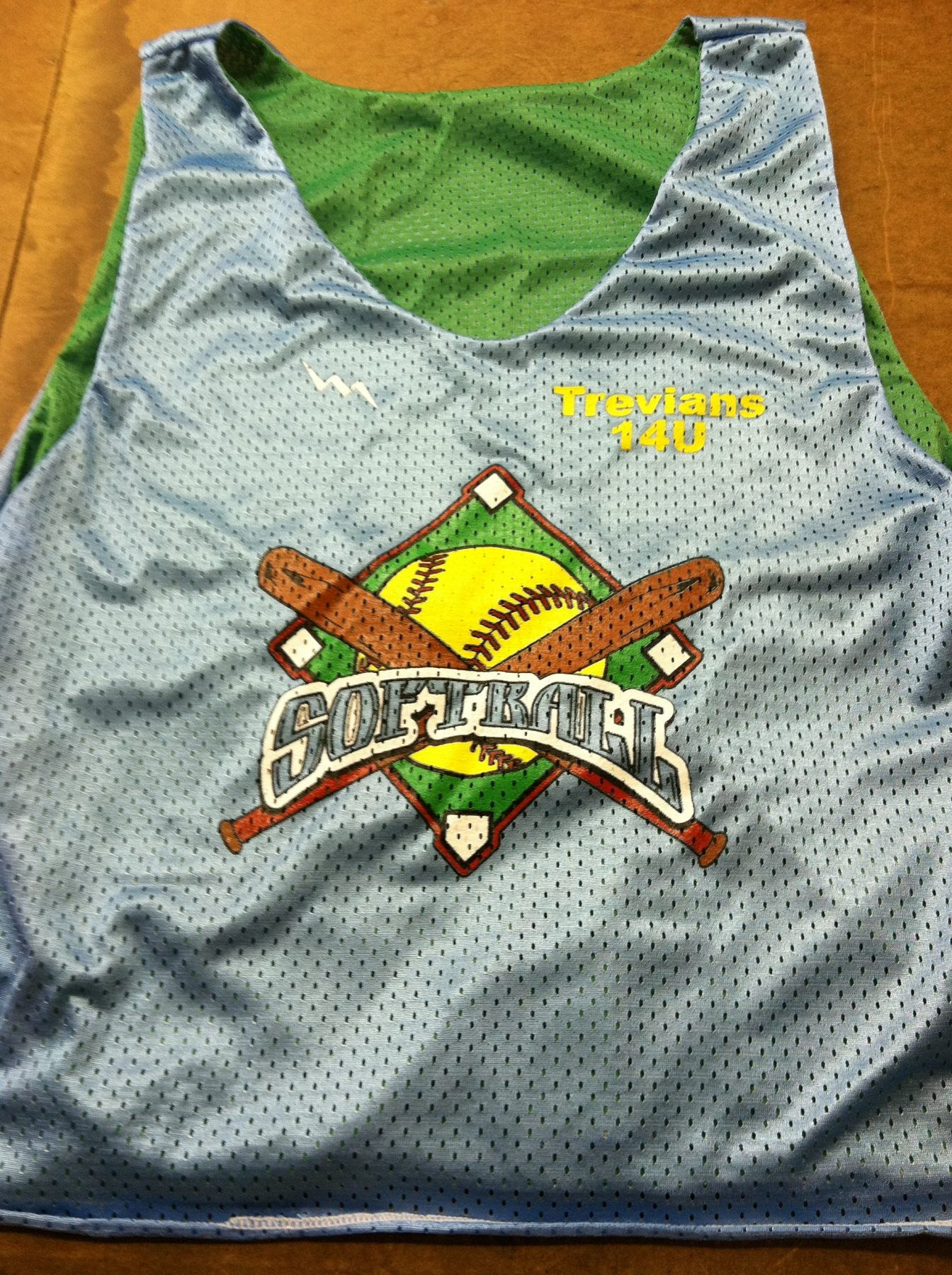 softball pinnies