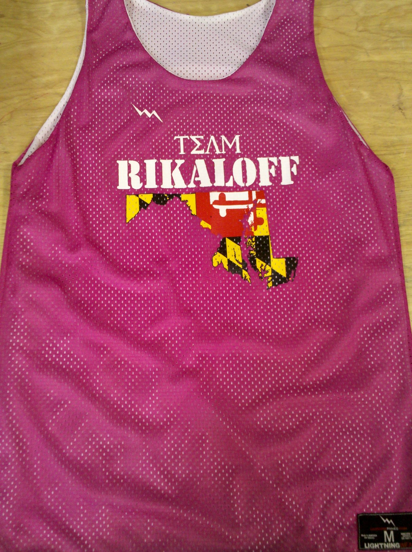 team rikaloff pinnies