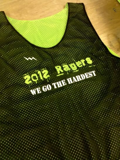 2012 ragers pinnies