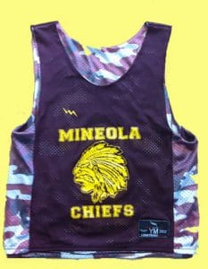 Mineola Chiefs Lacrosse Pinnies