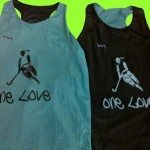 One Love Racerback Pinnies – One Love Lax Pinnies – Burnt Hills New York Pinnies