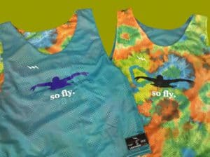 So Fly Swim Team Pinnies