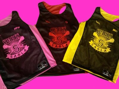 sparks youth lacrosse pinnies