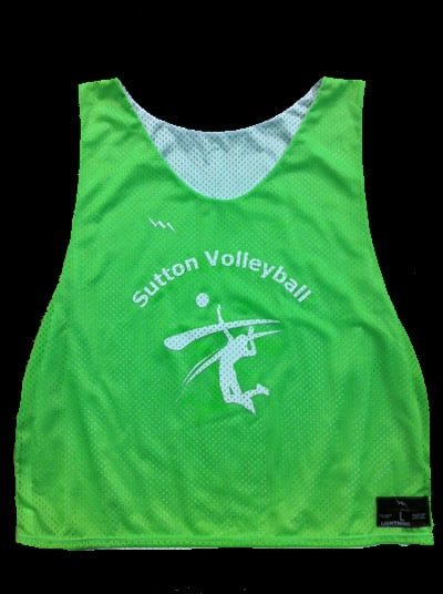 sutton volleyball pinnies
