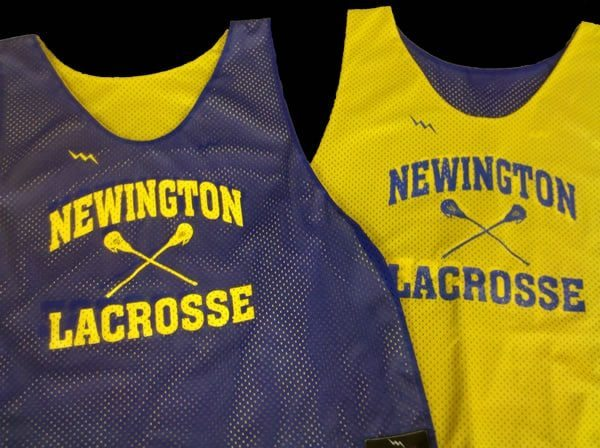 newington lacrosse pinnies