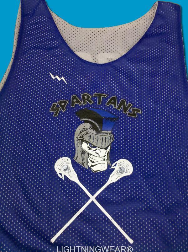 spartans lacrosse pinnies