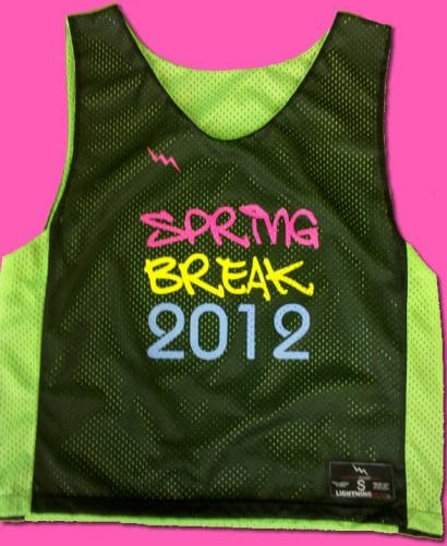 spring break 2012 pinnies