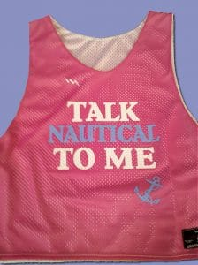 talk nautical to me pinnies