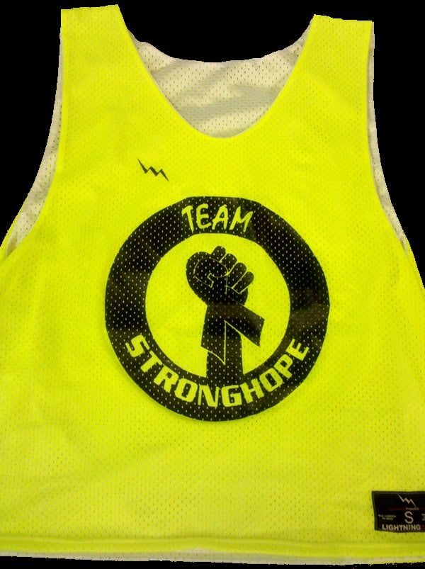 team stronghope lacrosse pinnies