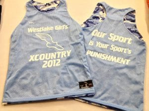 Westlake Lacrosse Pinnies