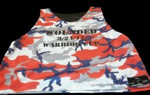 Red Camouflage Reversible Jerseys & Wounded Warrior Cup Pinnies