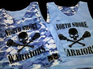 warriors lacrosse pinnies