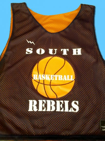south basketball pinnies
