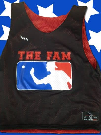 the fam beer pong pinnies