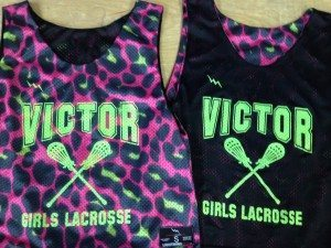 victor girls lacrosse pinnies