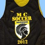 Black Gold Soccer Pinnies