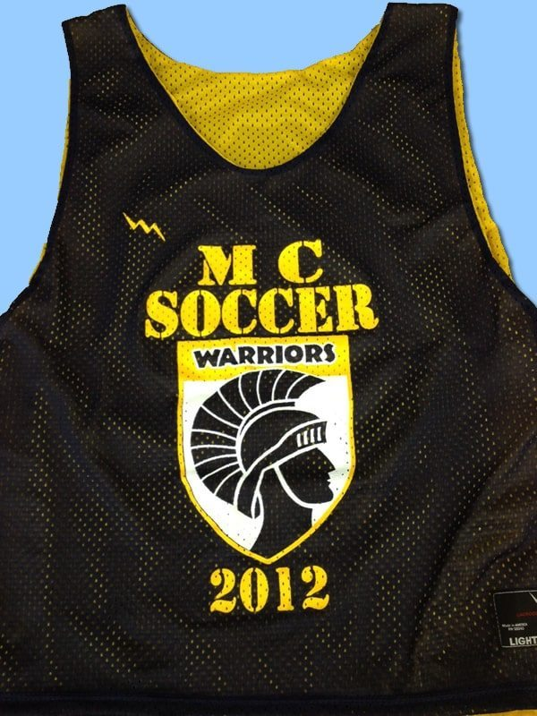 mc soccer pinnies