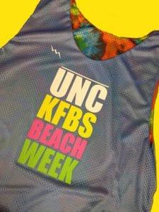unc beach week pinnies