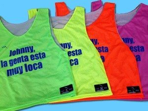 custom fluorescent pinnies