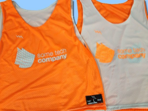 some tech company pinnies