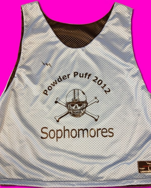 sophmore powderpuff pinnies