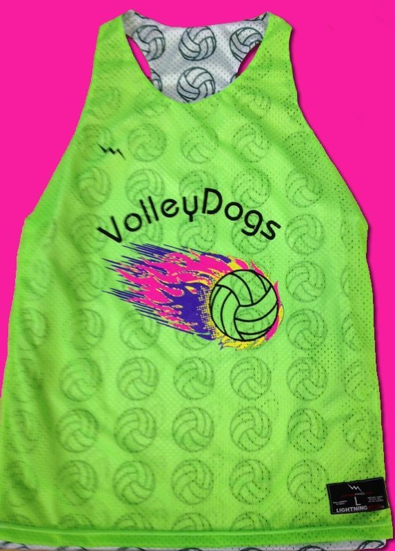 volleydogs pinnies - reversible jerseys