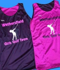 Wethersfield Girls Golf Team Pinnies