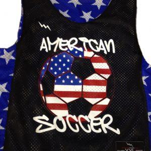 american soccer pinnies